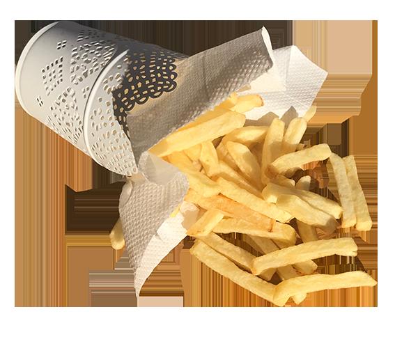 Durnins fresh cut chips in a basket