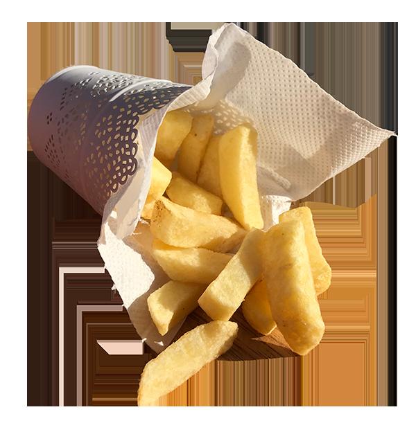 Basket of durnin's fresh cut chips